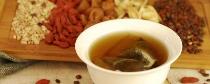 草本植物茶百合茯苓茶